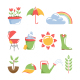 Spring Icons - GraphicRiver Item for Sale