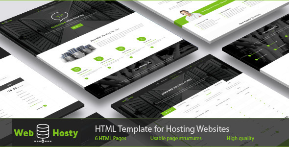 WebHosty - Hosting HTML Template