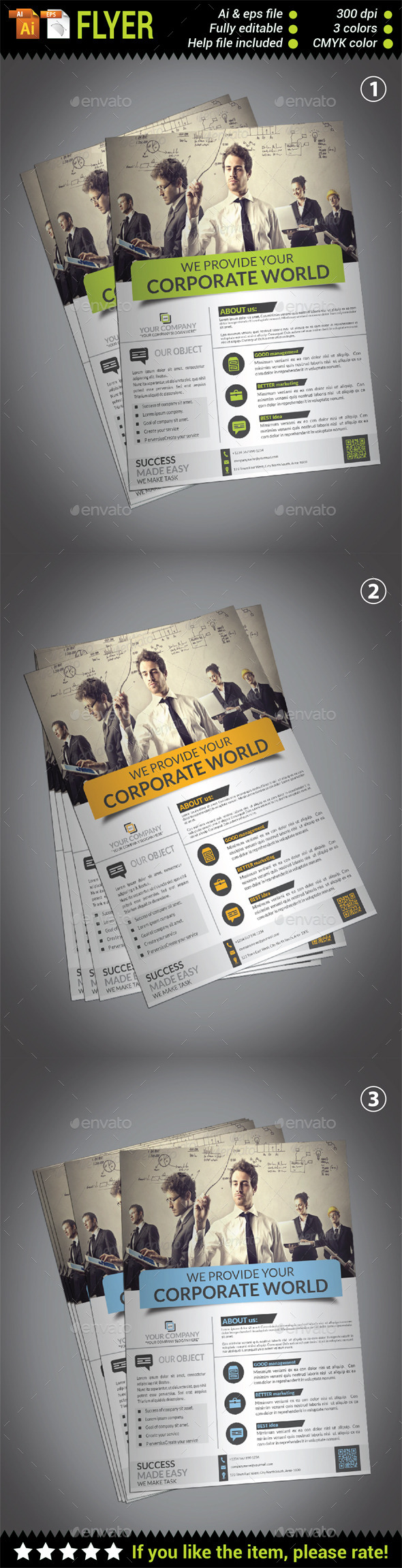 GraphicRiver Corporate Flyer 10582628