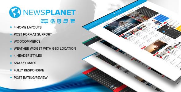 Download NewsPlanet - Magazine, News & Blog WordPress Theme nulled download
