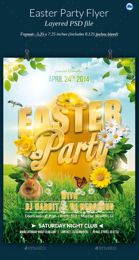 GraphicRiver Easter Party Flyer 10582816