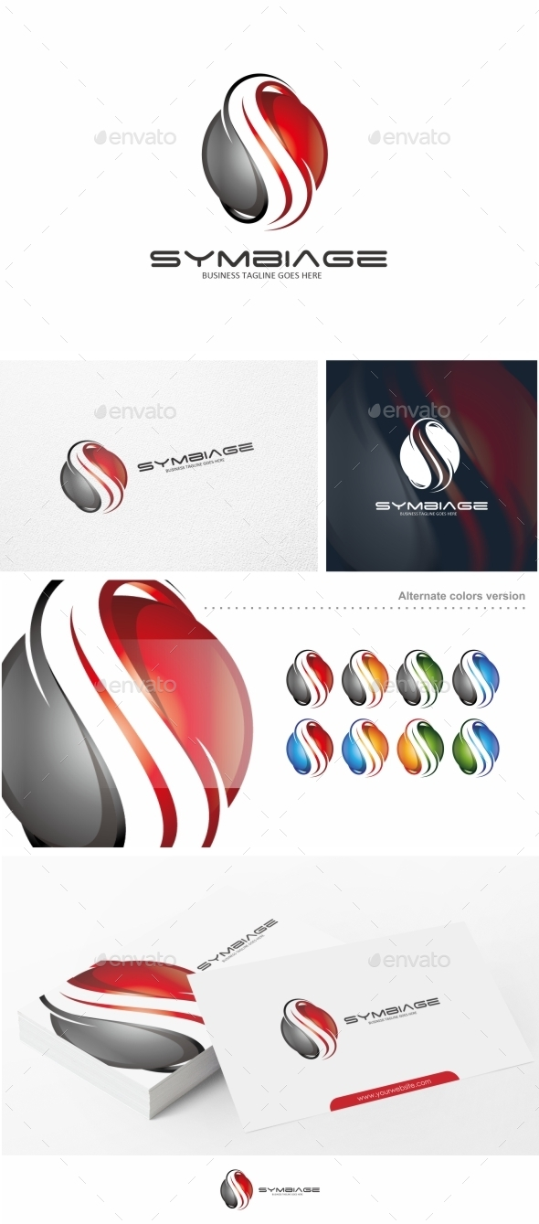 GraphicRiver Symbiage Abstract S Letter Logo Template 10582836