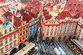 Aerial view over Old Town Square in Prague, Czech Republic - PhotoDune Item for Sale