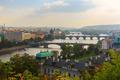 Aerial view over the bridges on the Vltava River in Prague, Czec - PhotoDune Item for Sale