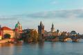 Charles Bridge in Prague (Czech Republic) at evening - PhotoDune Item for Sale