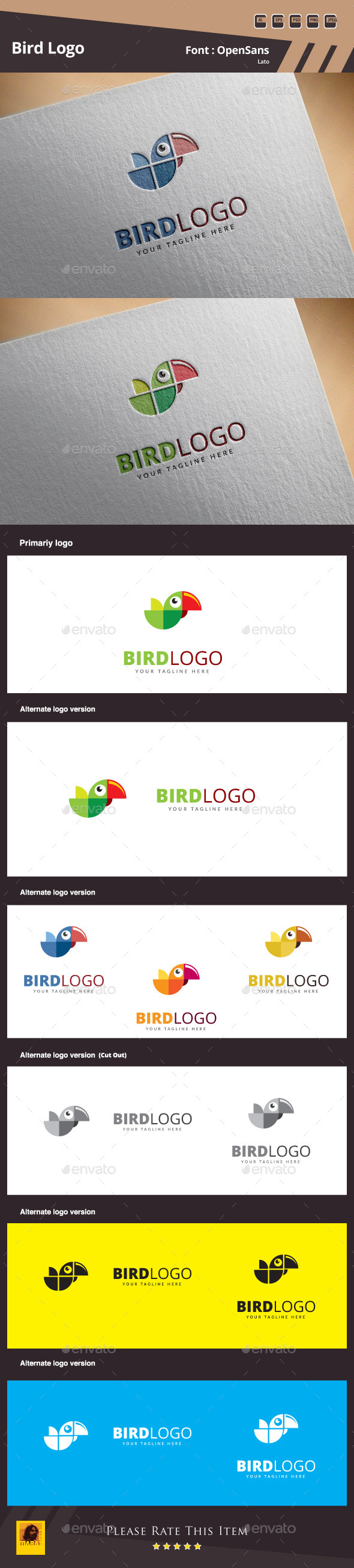 GraphicRiver Bird Logo Template 10583348