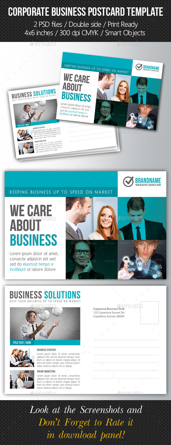 GraphicRiver Corporate Business Postcard Template V08 10583390
