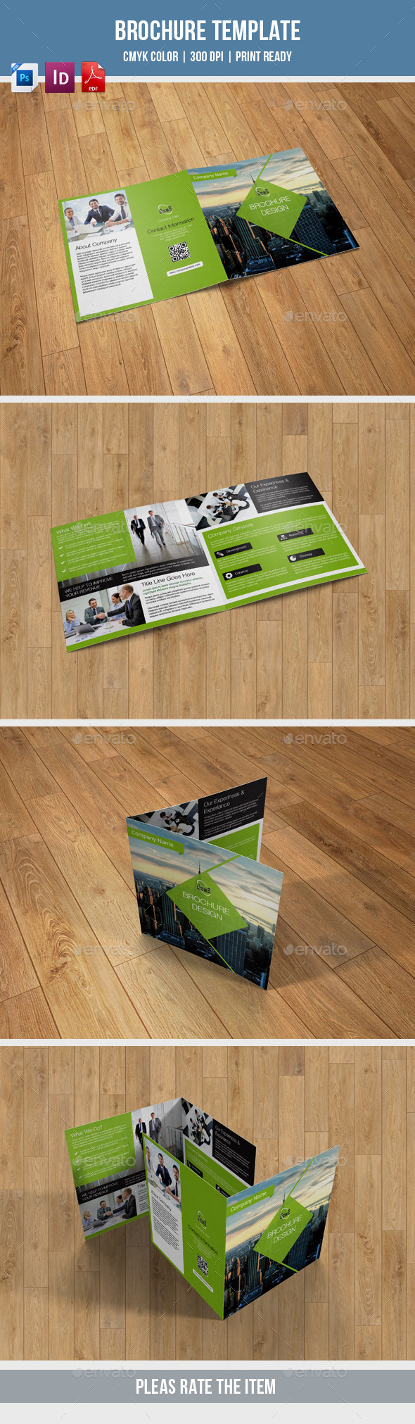 GraphicRiver Corporate Square Bifold-V13 10583398
