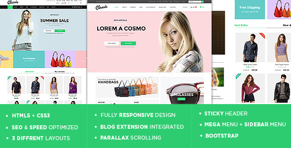 ThemeForest Classic The Ultimate Responsive Magento Theme 10583454