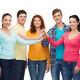 smiling teenagers making high five - PhotoDune Item for Sale