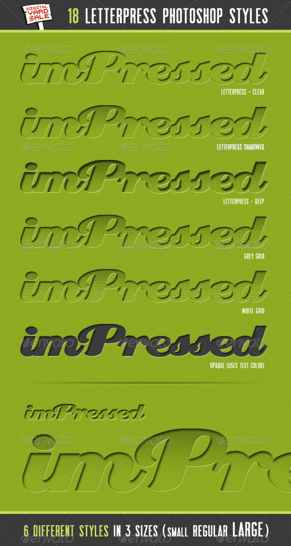 GraphicRiver imPressed 18 Letterpress Photoshop Layer Styles 132748