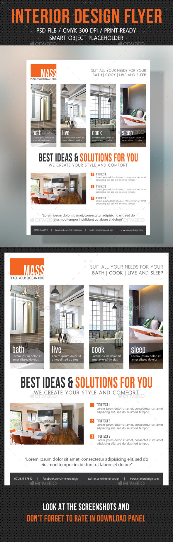 GraphicRiver Interior Design Flexible Flyer V02 10583844