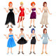 Female Avatar with Dresses and Shoes - GraphicRiver Item for Sale