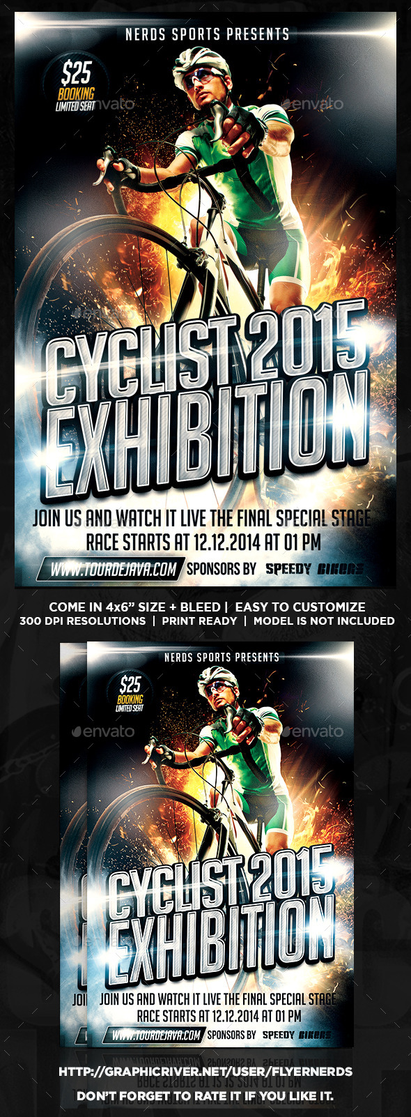 GraphicRiver Cyclist Exhibition 2015 Sports Flyer 10584127