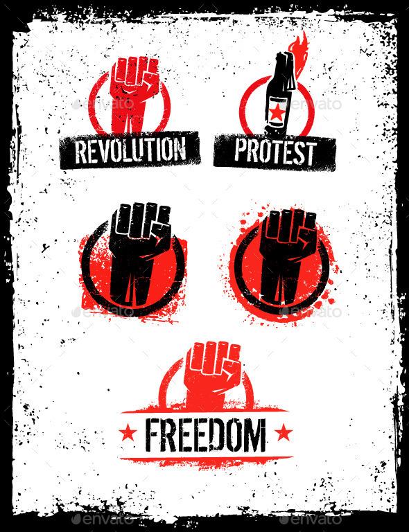 GraphicRiver Grunge Revolution Design Elements 10584676