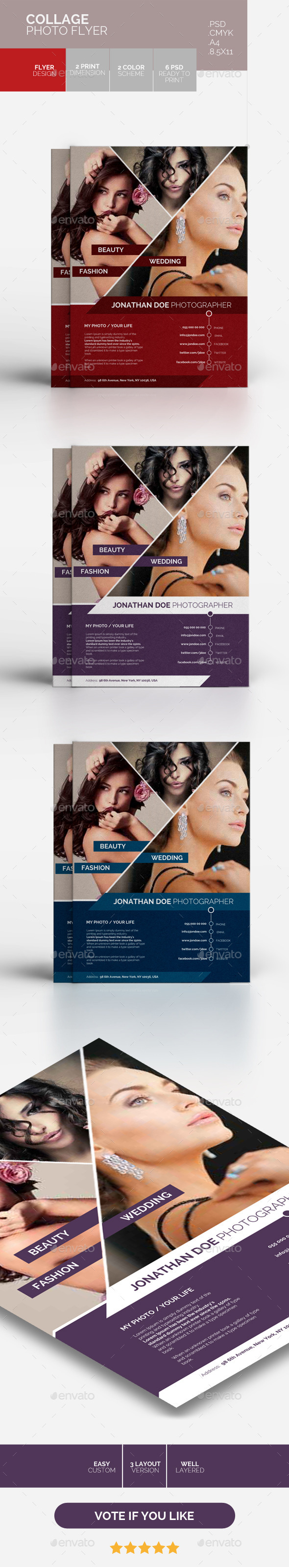 GraphicRiver COLLAGE PHOTO FLYER 10463111