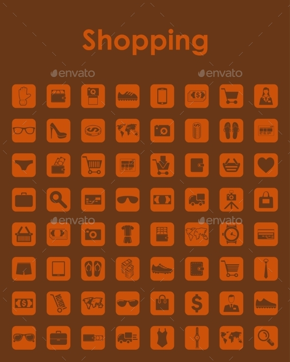 GraphicRiver Set of Shopping Icons 10584966