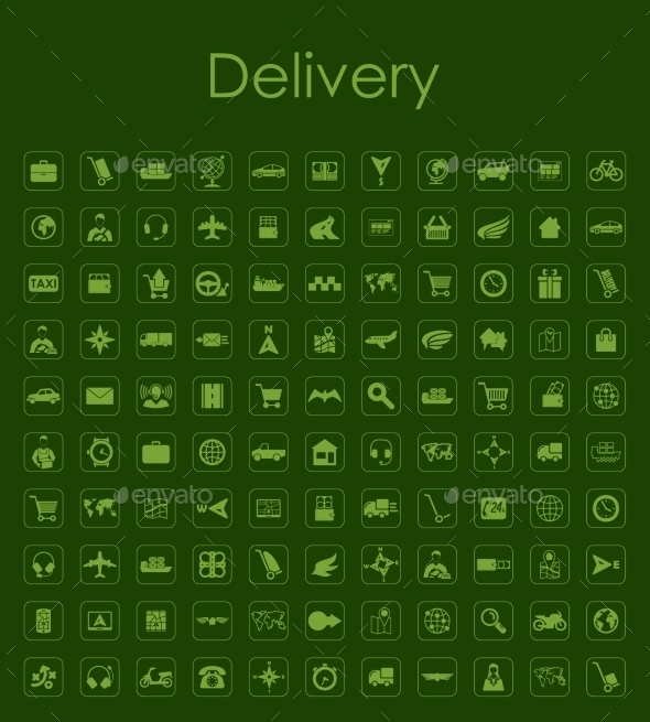 GraphicRiver Set of Delivery Icons 10584976