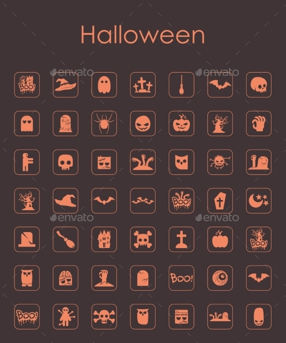 GraphicRiver Set of Halloween Icons 10584995
