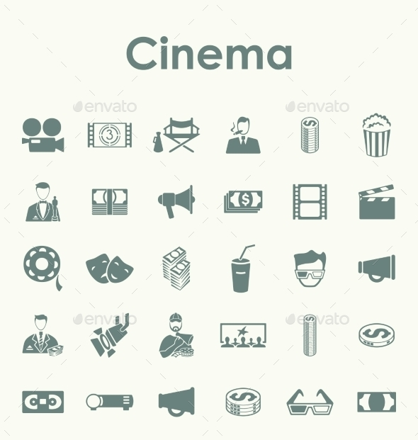 GraphicRiver Set of Cinema Icons 10585018
