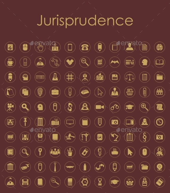 GraphicRiver Set of Jurisprudence Icons 10585032