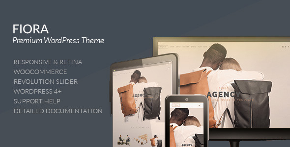 ThemeForest Fiora Multi & Onepage Portfolio WordPress Theme 10585304