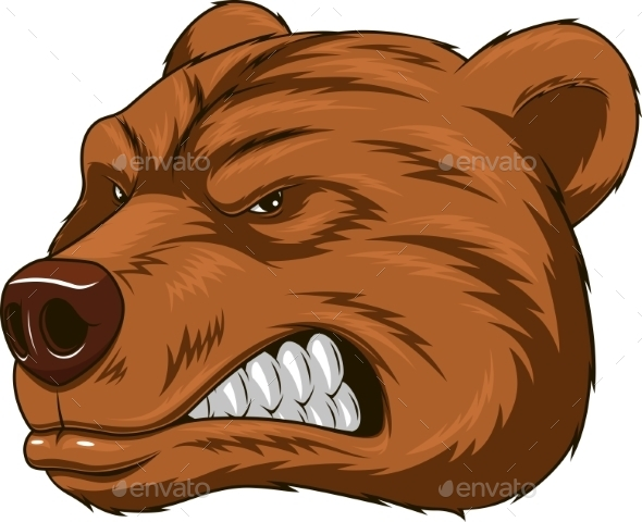 GraphicRiver Angry Bear Head Mascot 10585377