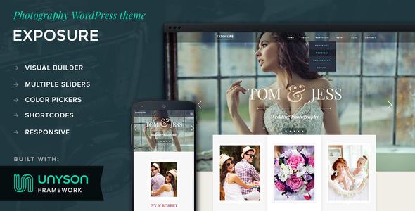 ThemeForest Exposure Photography WordPress Theme 10562504