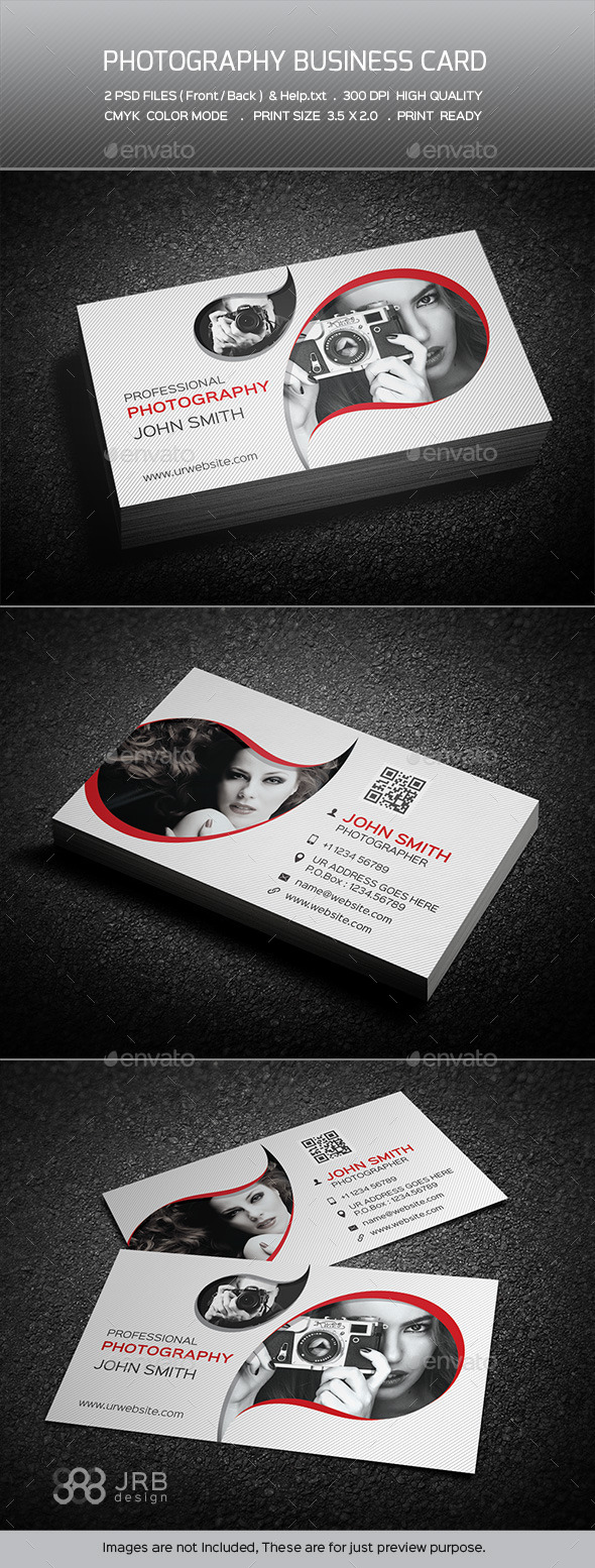 GraphicRiver Photography Business Card 10485460