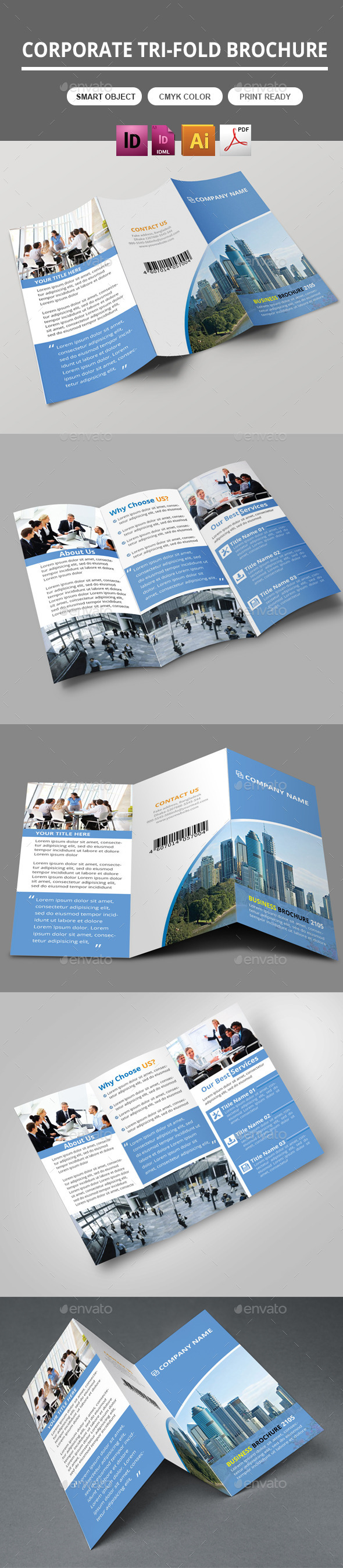 GraphicRiver Trifold Business Brochure 10585779