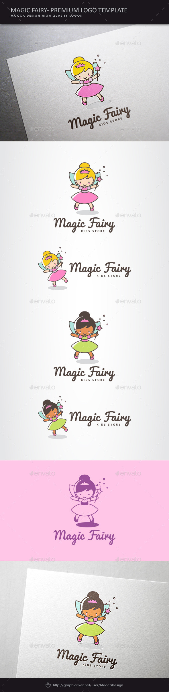 GraphicRiver Magic Fairy Logo 10586480
