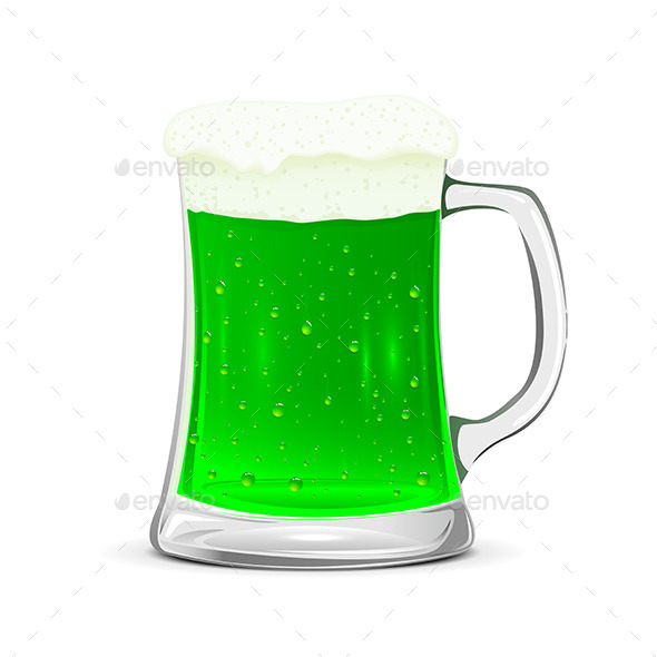 GraphicRiver Glass Mug of Green Beer 10586732