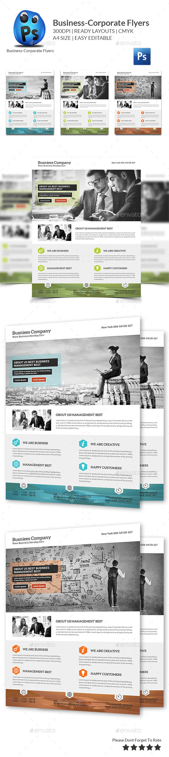 GraphicRiver Corporate Business Flyer Template 10587113