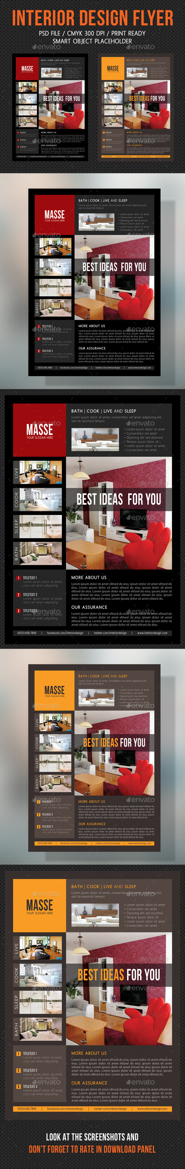 GraphicRiver Interior Design Flexible Flyer V03 10587304