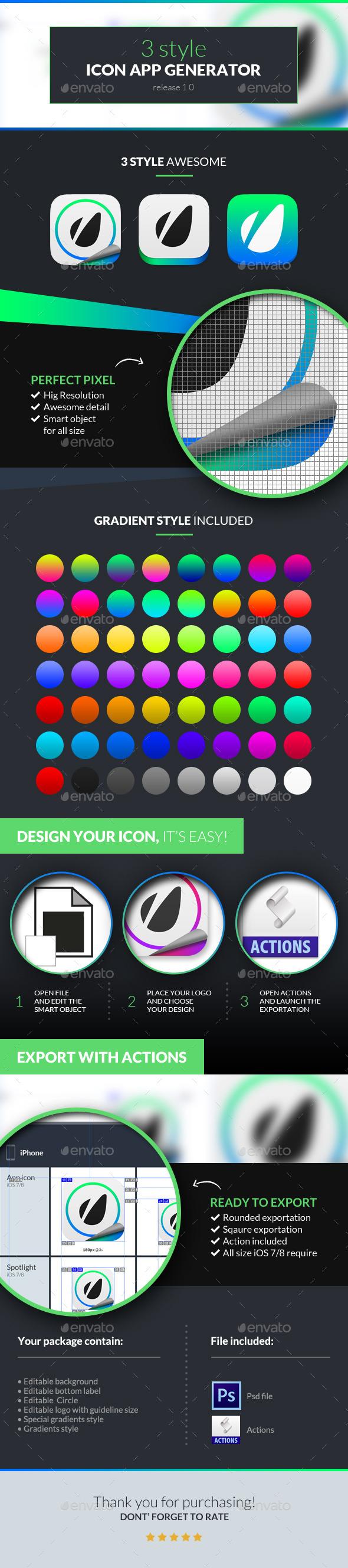 GraphicRiver 3 Style Icon App Generator 10468852