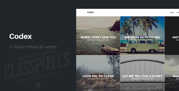 ThemeForest Codex Blogging theme to tell Stories 10587806