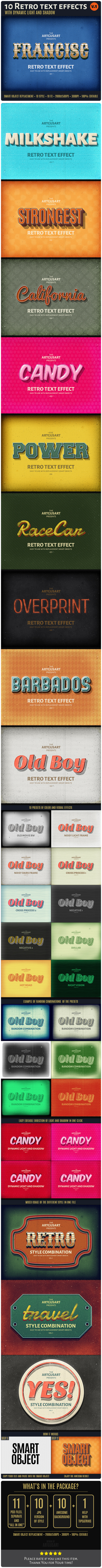 GraphicRiver 10 Retro Text Effect v.1 10587866