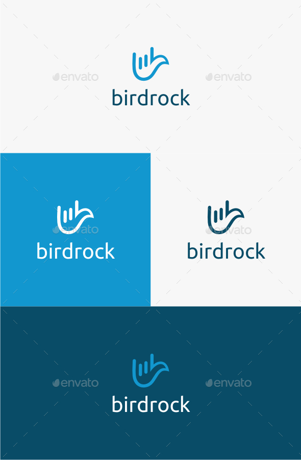 GraphicRiver Bird Rock Logo Template 10587997