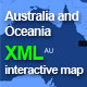 Complete XML Australia and Oceania Map - ActiveDen Item for Sale