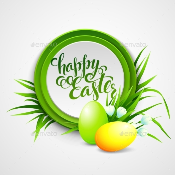 GraphicRiver Easter Card with Eggs and Flowers 10588154