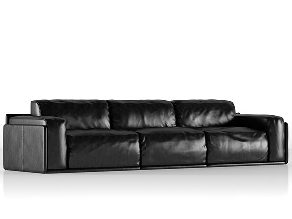 Photorealistics leather sofa Alberta Newland