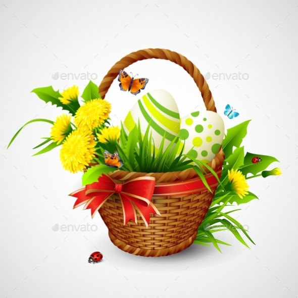 GraphicRiver Easter Card with Basket 10588156