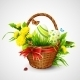 Easter Card with Basket - GraphicRiver Item for Sale