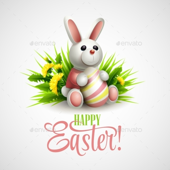 GraphicRiver Easter Card with Bunny 10588157