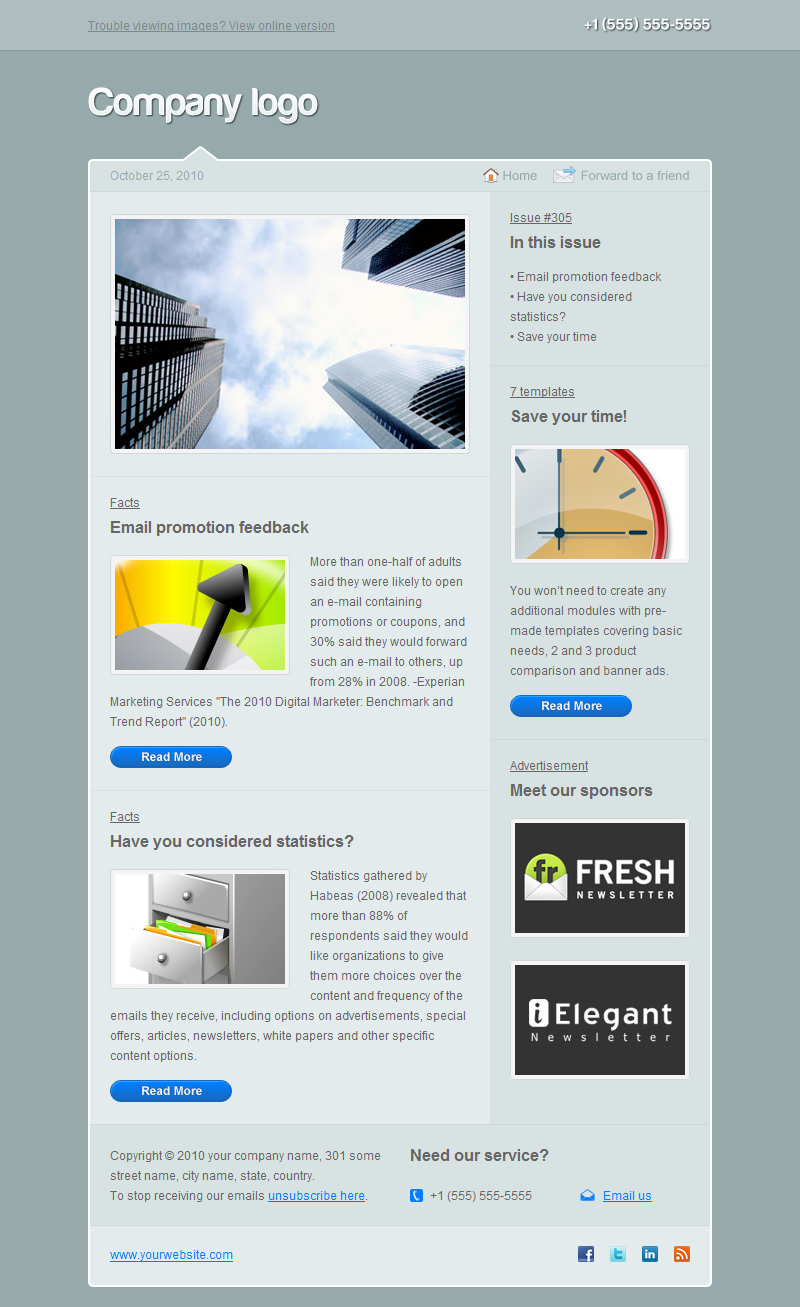 Double Wink Newsletter Multi-usage Version