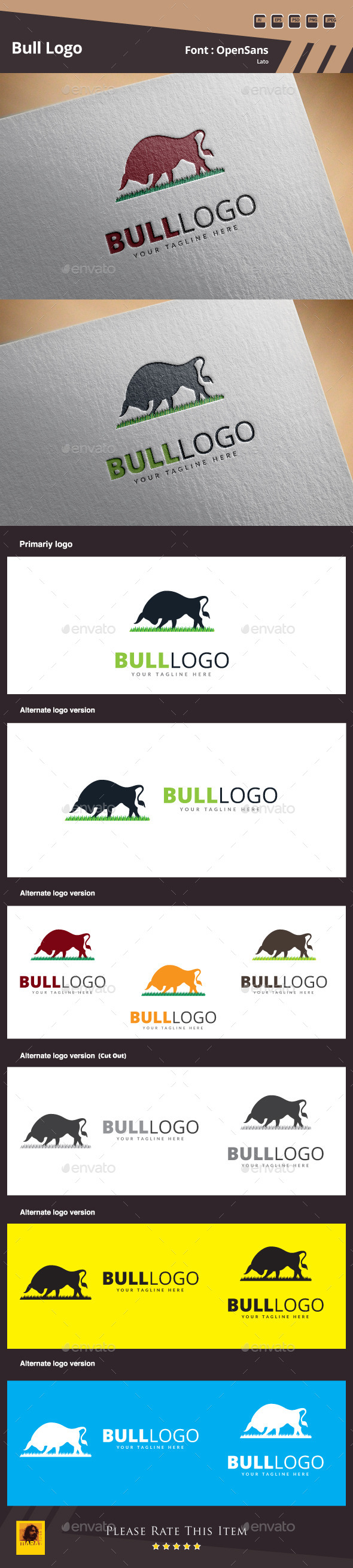 GraphicRiver Bull Logo Template 10589181