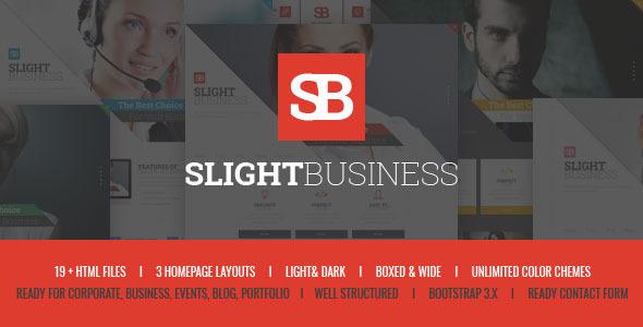 ThemeForest Slight Business Responsive Corporate Template 10589324