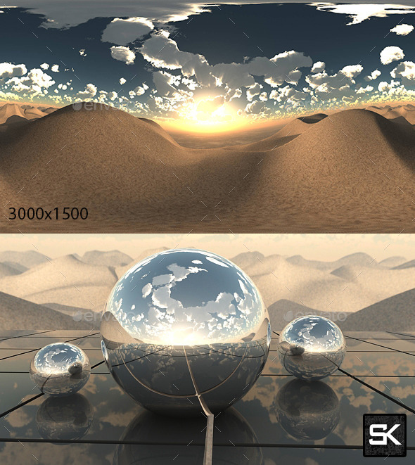 3DOcean Sunrise In The Desert 10589346