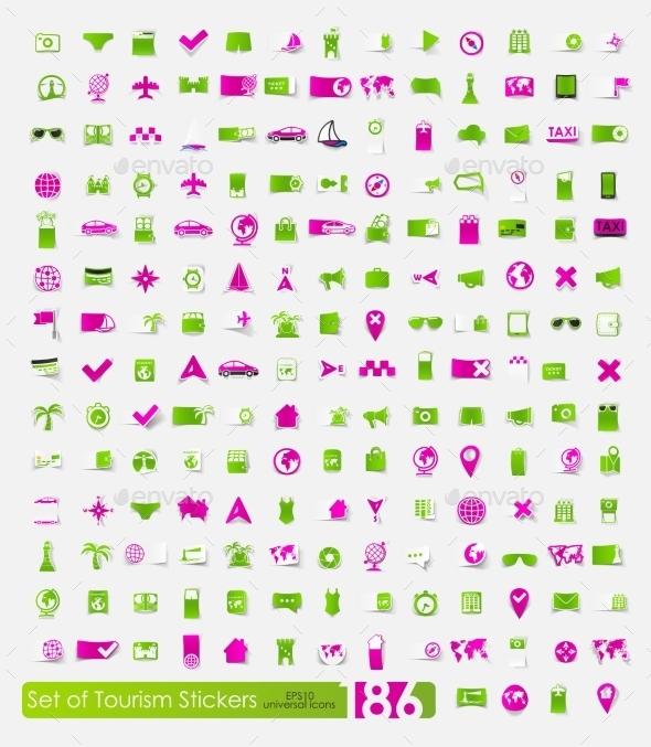 GraphicRiver Tourism Stickers 10589522
