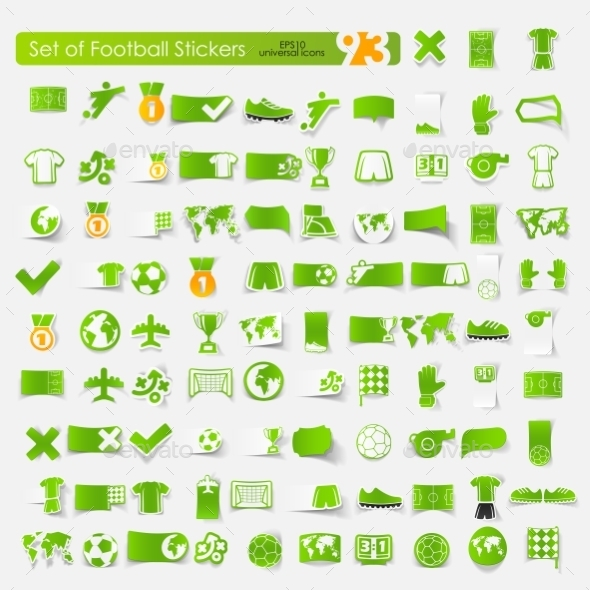 GraphicRiver Football Stickers 10589601